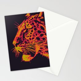 Leopard face Stationery Cards