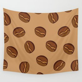 Pattern - Coffee Beans Wall Tapestry