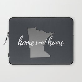 Minnesota Home Sweet Home Grey Laptop Sleeve