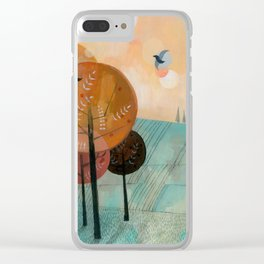 Trees & Birds Clear iPhone Case