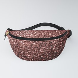 Beautiful Glam Marsala Brown-Red Glitter sparkles Fanny Pack