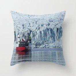 Sailing around Svalbard Throw Pillow