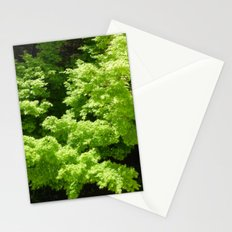 Japanese Maple Green Stationery Cards