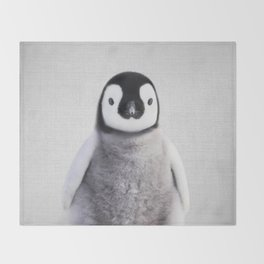 Baby Penguin - Colorful Throw Blanket