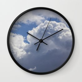 Cotton Wool Clouds Wall Clock