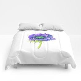 Blue Floral Elements Comforters