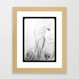 BodMod Girl. Framed Art Print