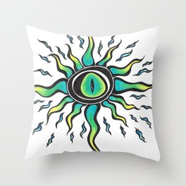 Crazy eye Throw Pillow