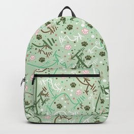Mint Chip Paw Prints Backpack