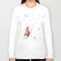 diver Long Sleeve T-shirts featuring Diver by Freeminds