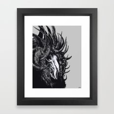 lord with 1000 horns Framed Art Print