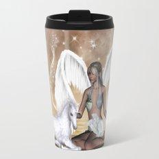 The fairy with wonderful, cute foal unicorn Travel Mug