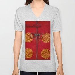 Temple Door Unisex V-Neck