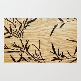 Japanese bamboo wood art Rug