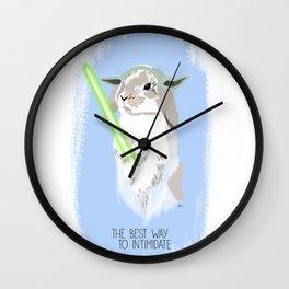 Yoda rabbit Wall Clock