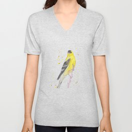 Yellow Bird Unisex V-Neck