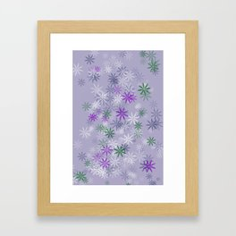Lavander glow flower power Framed Art Print