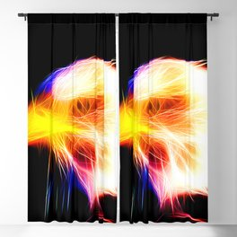 bald eagle 03 neon lines bright Blackout Curtain