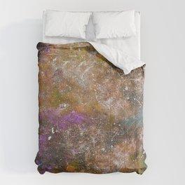 A galactic ocean -Orange- Cosmic Painting Art Comforters