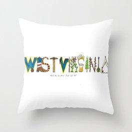 West Virginia - Morgantown Throw Pillow