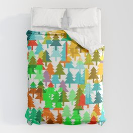 Colorful fir pattern Comforters