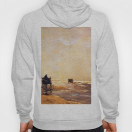 Beach View 1891 By Johan Hendrik Weissenbruch | Reproduction Hoody