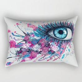 """Midnight Rose"" Rectangular Pillow"