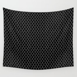 Chicken Wire Black Wall Tapestry