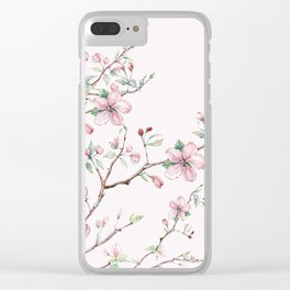 Apple Blossom Pink #society6 #buyart Clear iPhone Case