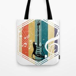 Colorful Bass Guitar Tote Bag