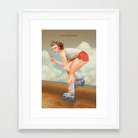 pinup Framed Art Prints featuring Pinup by Morgan Soto