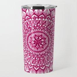 Sand Dollar-Magenta Travel Mug