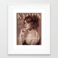 snk Framed Art Prints featuring SnK Magazine: Sasha by emametlo