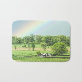 Cows and a Rainbow Bath Mat