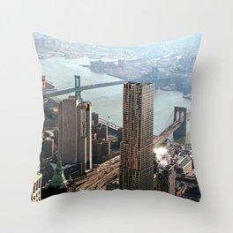 Vintage New City Throw Pillow