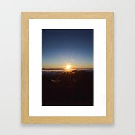 Sunrise at Haleakala III Framed Art Print