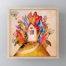 Hillside hut Framed Mini Art Print