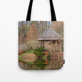 Brookside Bridge & Gazebo Tote Bag