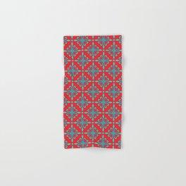 Fleur de Lis - Red & Turquoise Hand & Bath Towel