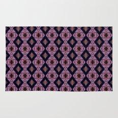 Pink Modern Tribal Diamond and Stripe Tile Rug