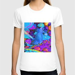 Mermaids purse purple/violet/blue T-shirt