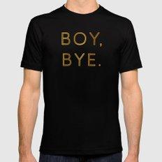 Boy, Bye - Vertical MEDIUM Black Mens Fitted Tee