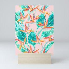 Birds of Paradise Blush Mini Art Print