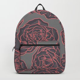 black roses pattern Backpack
