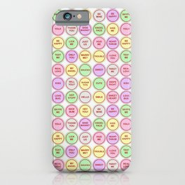 Sweet Love Messages iPhone Case
