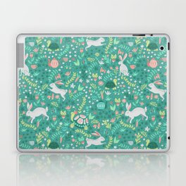 Spring Pattern of Bunnies with Turtles Laptop & iPad Skin