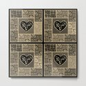 4 Square Hearts Pattern (black and gray) by jacksun