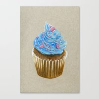 "cupcake Canvas Prints featuring ""Cupcake"" by Allana Vazquez"