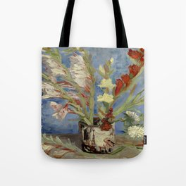 "Vincent Van Gogh ""Vase with Gladioli and Chinese Asters"" Tote Bag"