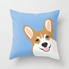 Corgi Peek  cute dog welsh corgi gift unique pet customizable gifts for dog lovers Throw Pillow